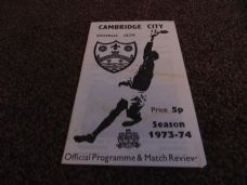 Cambridge City v Kettering Town / Romford, 1973/74